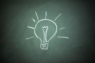 Bulb-on-chalkboard